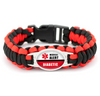 Diabetic Medical Alert Paracord Bracelet