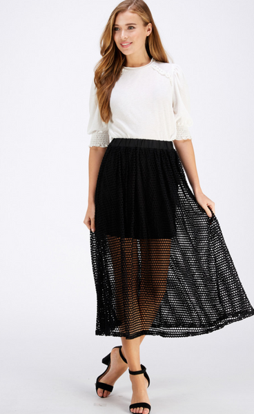 Fishnet Midi Skirt