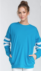 Banded Contrast Top