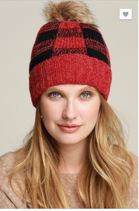 Checkered Beanie-2 Colors