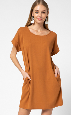 Camel Pocket Dress