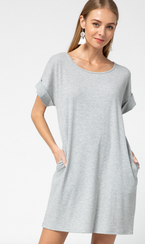 Grey Pocket Dress