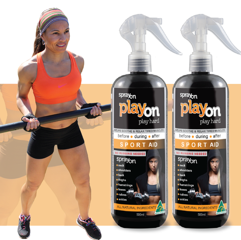 PlayOn SPORT AID 2x 500ml - FREE SHIPPING