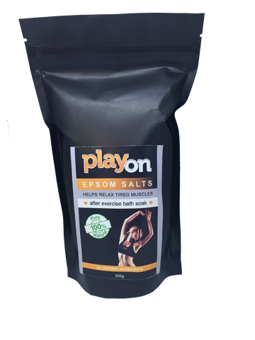 playon EPSOM SALT 500g - playon products, Bath Soak - playon SPORT AID