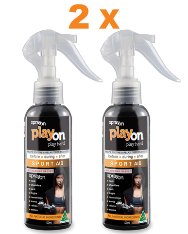 PlayOn Products - 2 x PlayOn SPORT AID 100ml - SAVE 10%