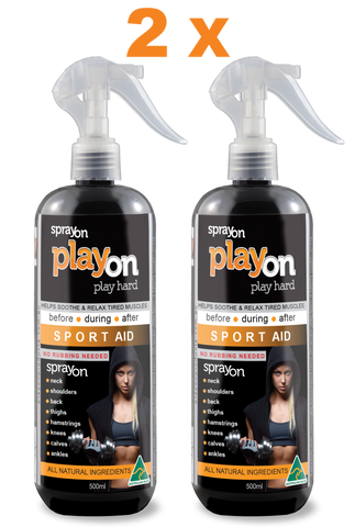2 x playon SPORT AID 500ml - FREE SHIPPING - playon products, Sport Aid - playon SPORT AID