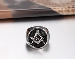 Cool Stainless Steel Masonic Ring for Men and Women