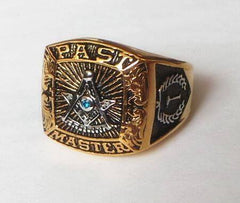 Past Master Freemason Ring