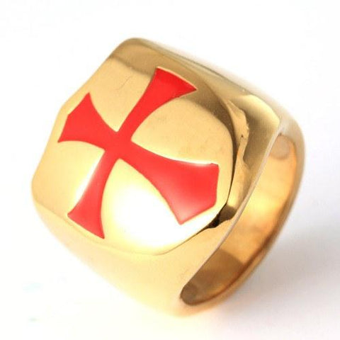 3 Color Premium Knights Templar Ring