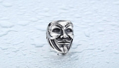 V for Vendetta Mask Ring