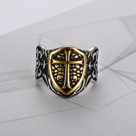 VINTAGE  KNIGHT TEMPLAR CRUSADE CROSS RING