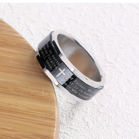 Bible Cross Ring