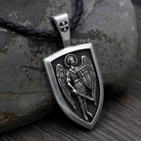 Saint Michael Archangel Pendant Necklace