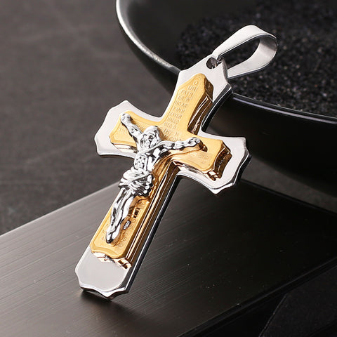 Cross Christ Jesus Pendant Necklace