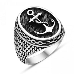 Stainless Steel Navy Anchor Rings