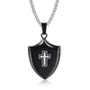 Image of Black Cross Necklace