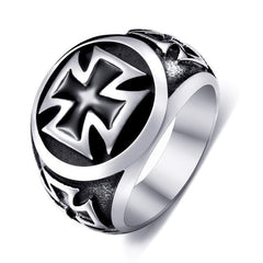 Titanium Cross Ring