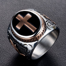 Load image into Gallery viewer, Stainless Steel Cross Faith Ring