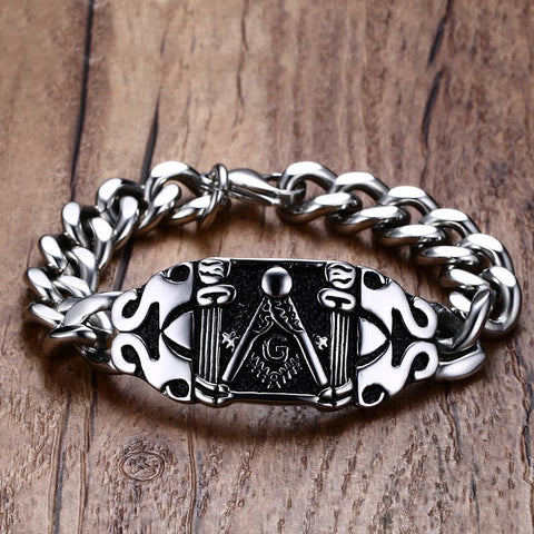 New Stainless Steel Masonic Bracelet