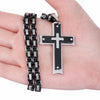 Image of Heavy Duty Black Cross Necklace
