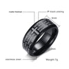 Image of Engraved Bible Cross Ring for Men