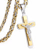 Image of Jesus Cross Necklace Stainless Steel Christs Pendant  NZ015