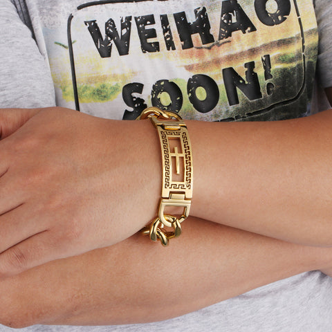 Gold Plated Cross Bracelet