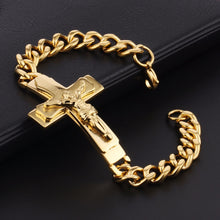 Load image into Gallery viewer, Copy of Jesus Bible Cross Bracelet
