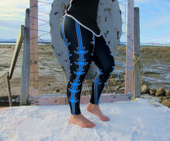 Ulu-Stripe Leggings (blue)