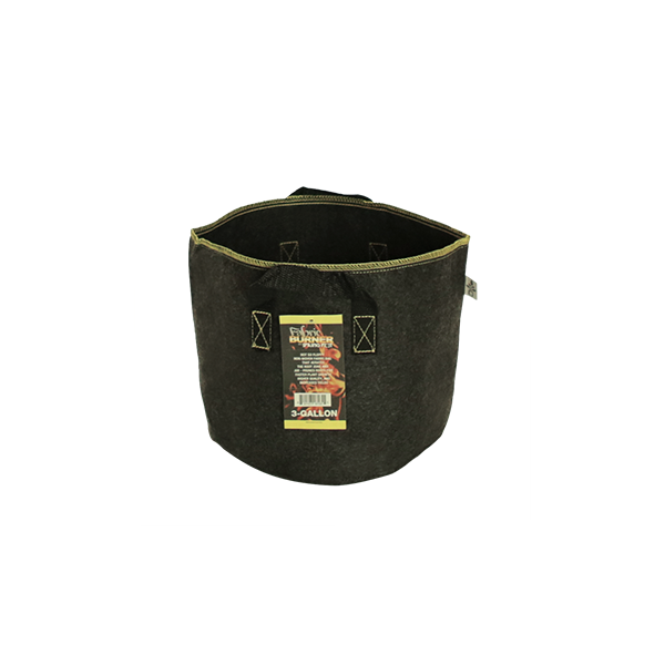 FABRIC BURNER 3 Gallon fabric pot with handles from spring pot