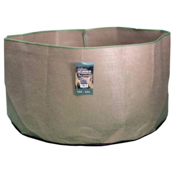 TAN FABRIC BURNER - 100 Gallon Fabric Pot