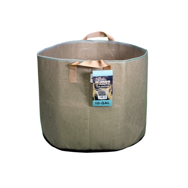 TAN FABRIC BURNER - 10 Gallon Fabric Pot w/ handles