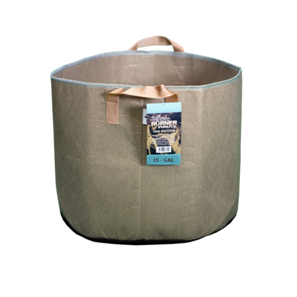 TAN FABRIC BURNER - 15 Gallon Fabric Pot w/ handles