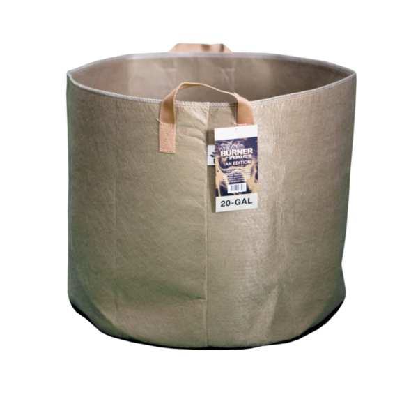 TAN FABRIC BURNER - 20 Gallon Fabric Pot w/ handles