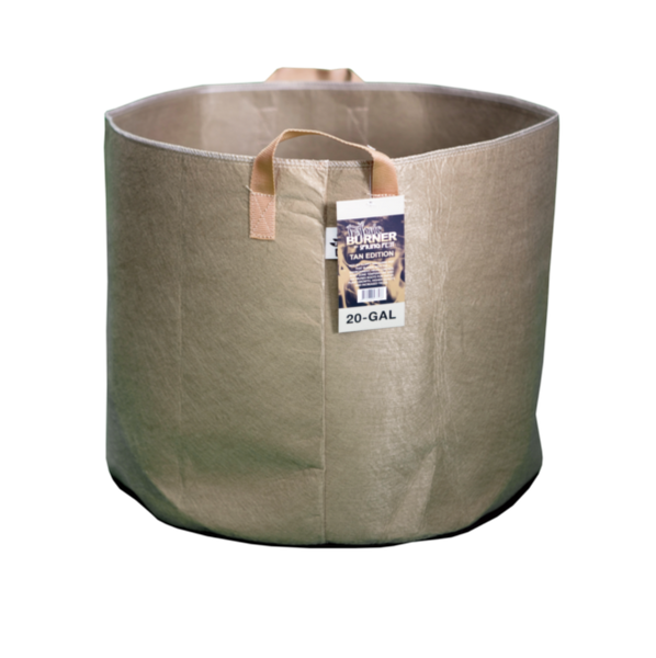 TAN SPRING POT BURNER - 20 Gallon Fabric Pot w/ handles