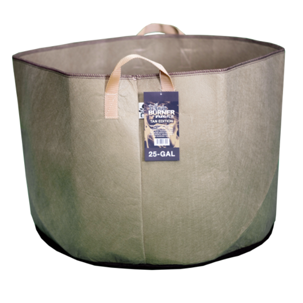 TAN FABRIC BURNER - 25 Gallon Fabric Pot w/ handles
