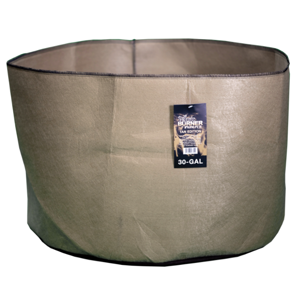 TAN FABRIC BURNER - 30 Gallon Fabric Pot