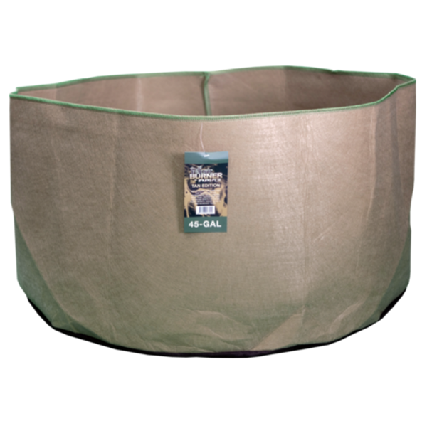 TAN FABRIC BURNER - 45 Gallon Fabric Pot