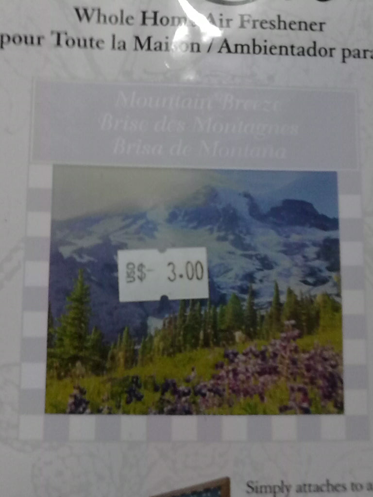 Mountain Breeze Wholehouse Air Freshener