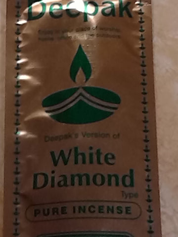 White Diamond Incense Sticks by Deepak