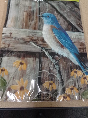 Bluebird Song Garden Flag