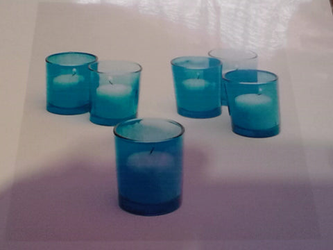 Turquoise Blue Votive Holder