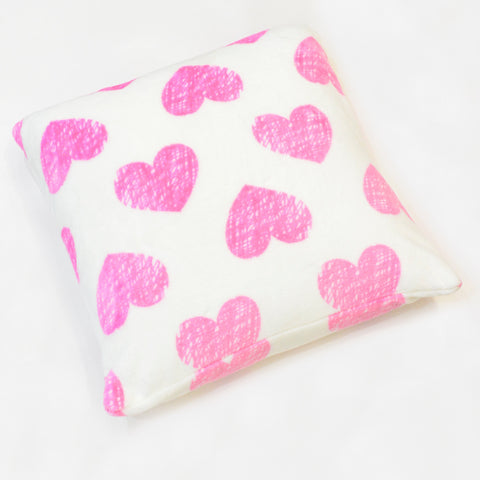 HEART FLANNEL FLEECE CUSHION