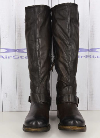 AIRSTEP LEATHER BROWN LONG BOOTS