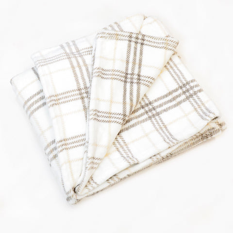 CHECKER FLANNEL FLEECE BLANKET