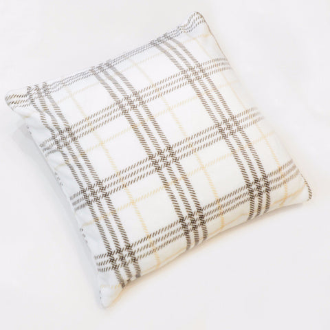 CHECKER FLANNEL FLEECE CUSHION
