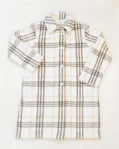 CHECKER KIDS FLANNEL FLEECE HOUSECOAT
