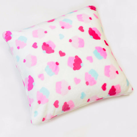 CUPCAKE FLANNEL FLEECE CUSHION