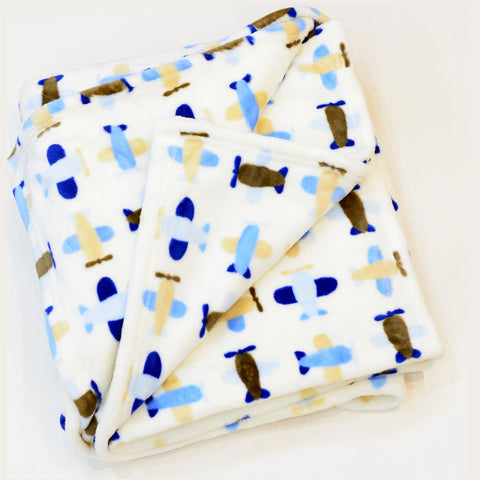 PLANE FLANNEL FLEECE BLANKET