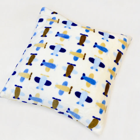 PLANE FLANNEL FLEECE CUSHION